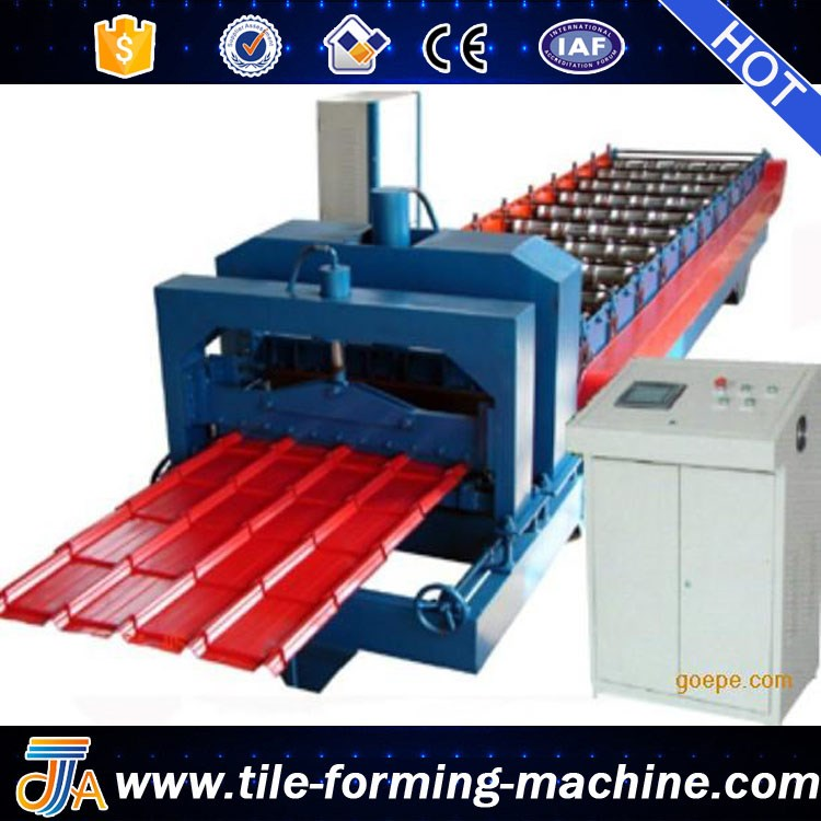 Metal Sheet Roofing corrugated Iron Sheet Glazed Tile Roll forming Making Machine bello lin