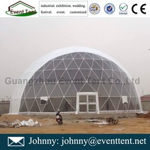 Giant powder coated steel pipes sport tent for swimming pool block out pvc roof cover