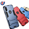 Wholesale for cell phone case iphone x smart phone armor case cover tpu pc 2 in 1