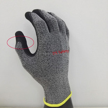 Soft liner sandy latex non-slip work gloves/latex coating gloves