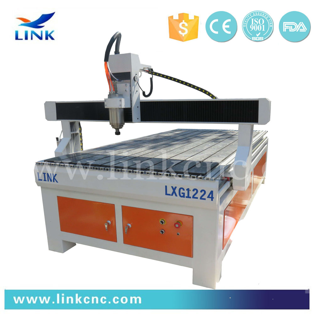 Cost effective LXG-1224 custom engraving with iron cast steel frame/4 axis cnc router engraver machine