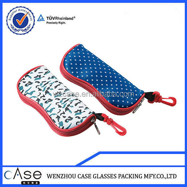 WENZHOU CASE LB06 neoprene glasses case with zipper