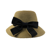 Accept custom straw boater hats cheap floppy straw hat