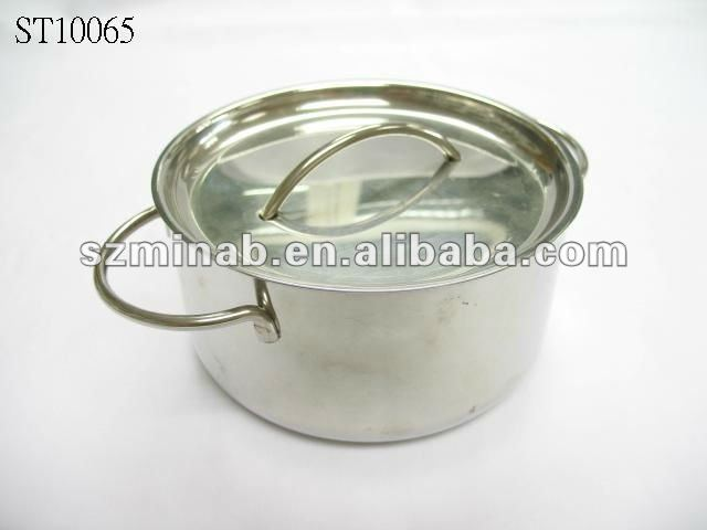 stainless steel cooking pot pan with two knobs