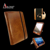 Genuine leather stand case cover for ipad air keyboard case