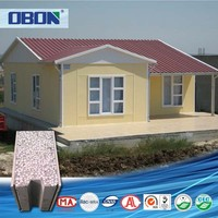 OBON economic relocatable homes light steel sandwich panel prefabricated houses