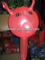 Baby plastic inflatable pig toy hammer