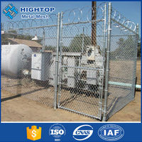 China Supplier Black Powder Coated Antique Chain Link Fence Gates