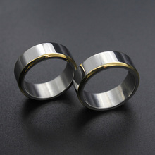 ZJ058 Amazon Top Seller 2019 New Gold Wedding Ring For Couple, Stainless Steel Band Rings Men