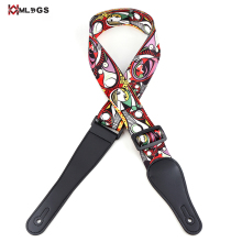 2017 heat transfering printing polyester colorful guitar strap