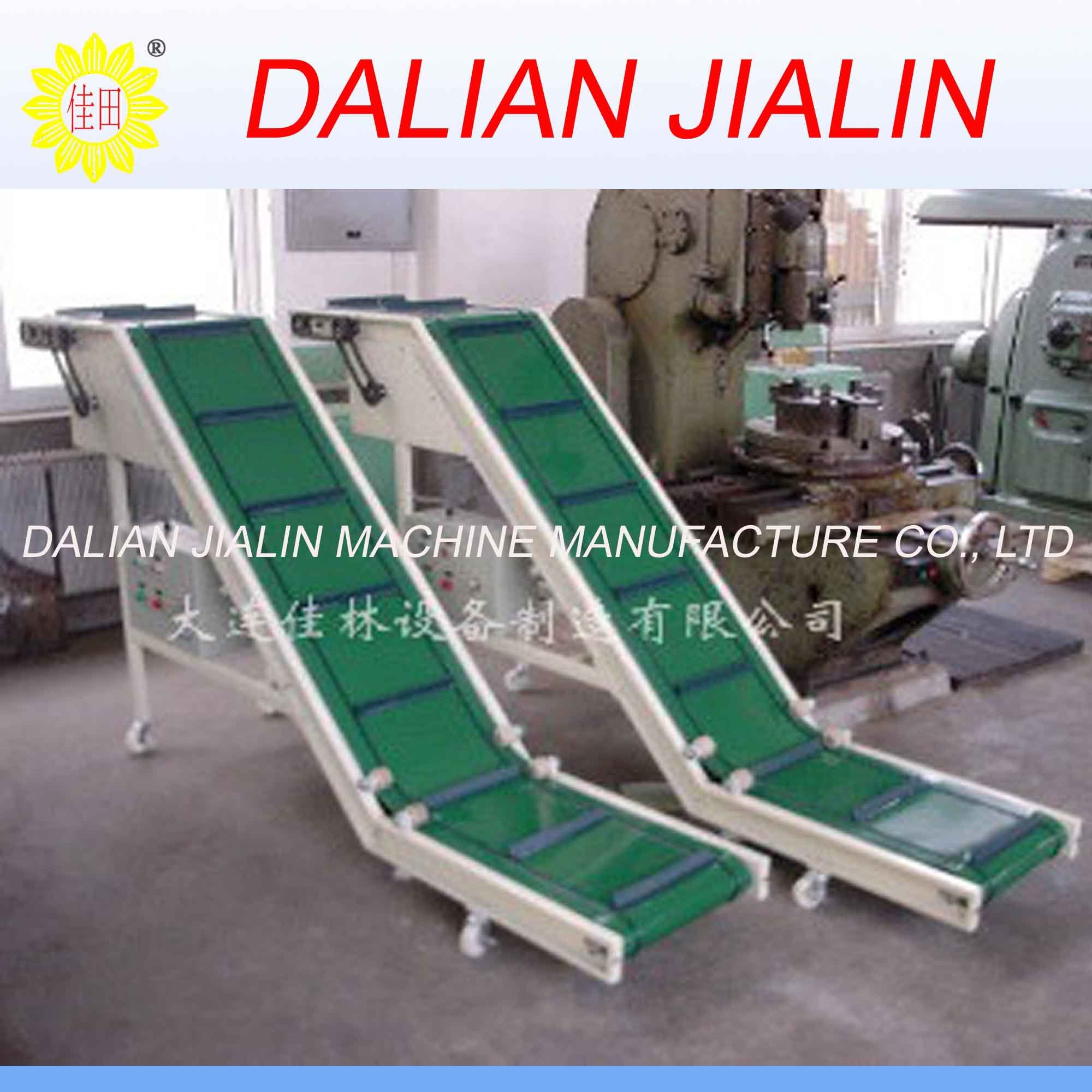 Small rubber belt conveyor system