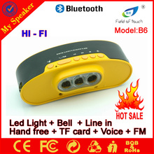 2015 new product Promotion gift cheap lower price 6w FM LED bluetooth car speaker