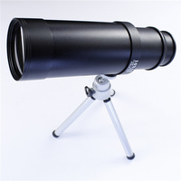 10X50 Long Range Motorized Brass Telescope with wooden stand