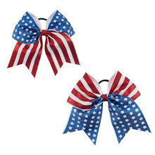 4th of july cheer bow hair bow wholesale BH1944