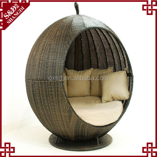 S&D Modern outdoor round bed/circular rattan bed rattan hanging bed