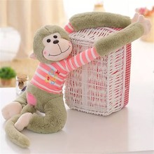 The long arm colourful monkey wear stripe shirt plush toys the best stuffed animals
