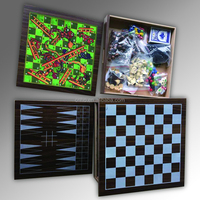 Wooden Chess Game Set wooden 10 in 1 combined game set
