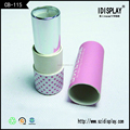 custom corrugated cylinder lipstick color gift box packaging