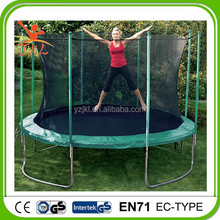 15ft used trampolin/trampoline with safety enclosure for sale