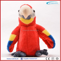wholesale cheap plush bird stuffed parrot record parrot toy