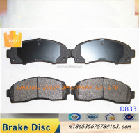Semi-ceramic brake pad D833 brake pad material