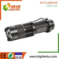 Hot Sale 3Watt Cree led Aluminum Portable Long Range Distance 200 lumens flashlight