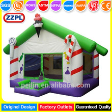 ZZPL Commercial Christmas inflatable bounce jumping castle for kids, cartoon inflatable fun park for sale