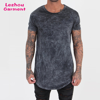 long tail t shirt, acid wash cotton t shirt