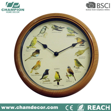 Modern cuckoo bird wall clock with bird sound , talk wall clock for sale