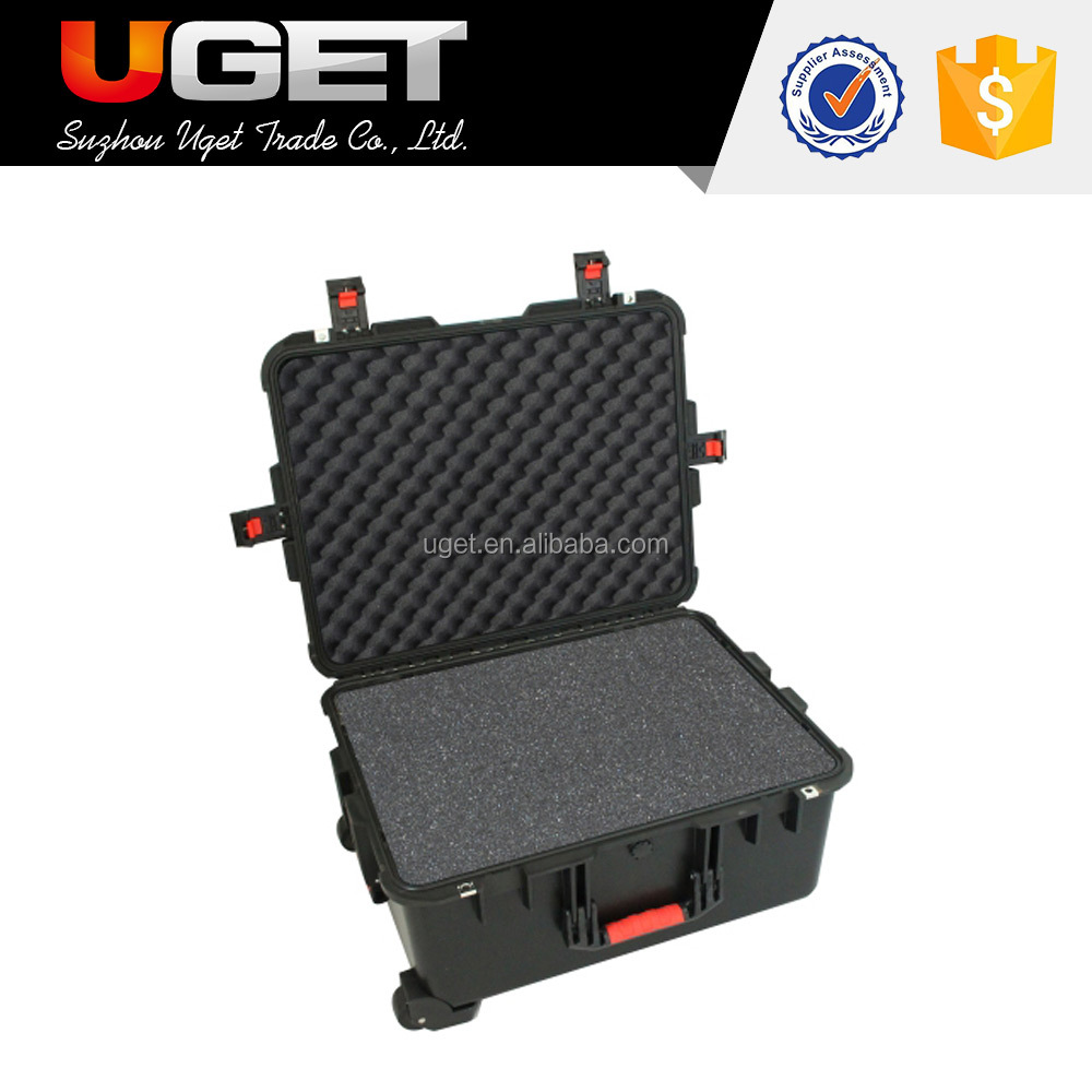 Pad lockable design shockproof plastic tool instrument case