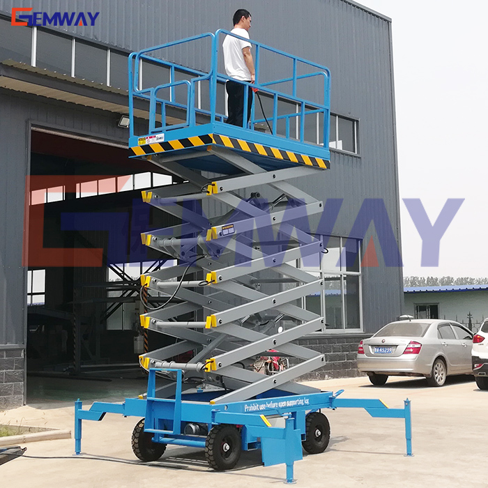 Mobile crank arm lift platform hydraulic scissor lift