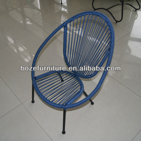Rattan wicker chairs outdoor furniture/ Steel frame Acapulco chairs for kids