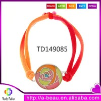 Eco-friendly Nickel and Lead Free Kids Bracelet Oil Abstract Flowers Painting Stretch Bracelet