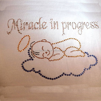 Miracle in Process rhinestone iron-ons for baby clothing