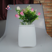 outdoor led plastic rgb color changing garden flower pot plant pot with bluetooth speaker
