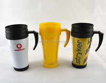 double walled thermal plastic cup with lid