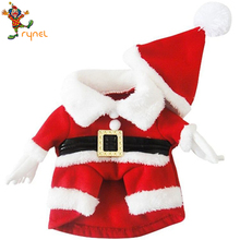 PGPC0299 Cosplay Father Christmas Santa Claus Cute Cotton Warm Support Customize Dog Costume Clothes Pet Costumes