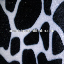 fabric textile / Animal Printed Velvet Fabric for evening dresses