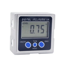 Digital inclinometer mini box with three surface magnets angle level ruler measures electronic protractor