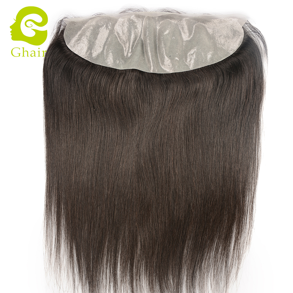 Transparent pre plucked pu frontal 13x4 lace frontal in natural color