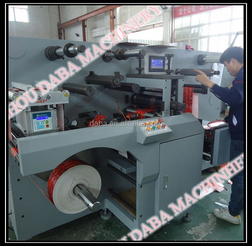 DBGS320 Type High Speed Adhesive Sticker Label Roll Machine With Die Cutting Hot Stamping Punching