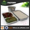 Catering disposable airline aluminum foil container for food packing