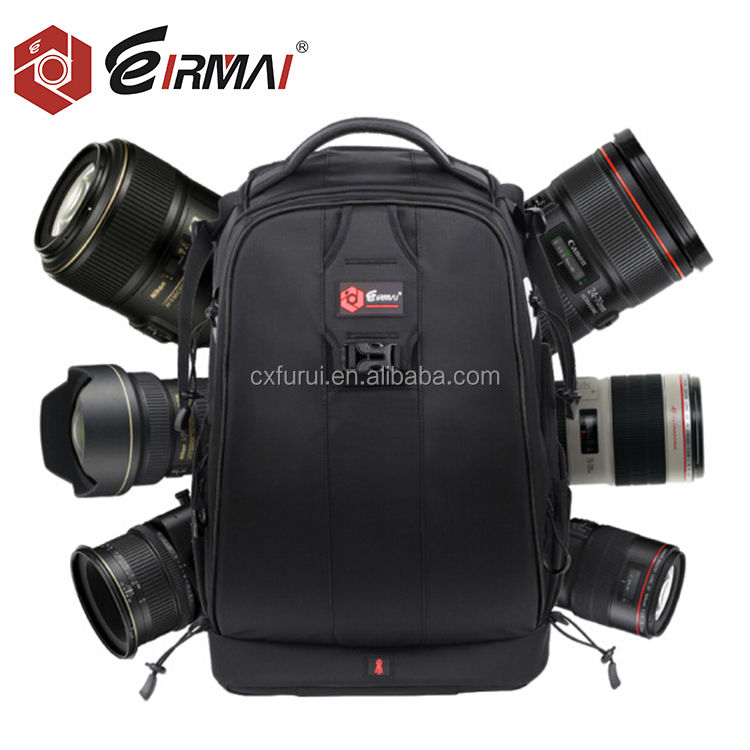 Pro Camera Case Waterproof Shockproof Adjustable Padded Camera Backpack Bag with Anti-theft Combination Lock for DSLR