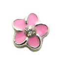 floating charms wholesale (pink Plumeria Flower Charm )