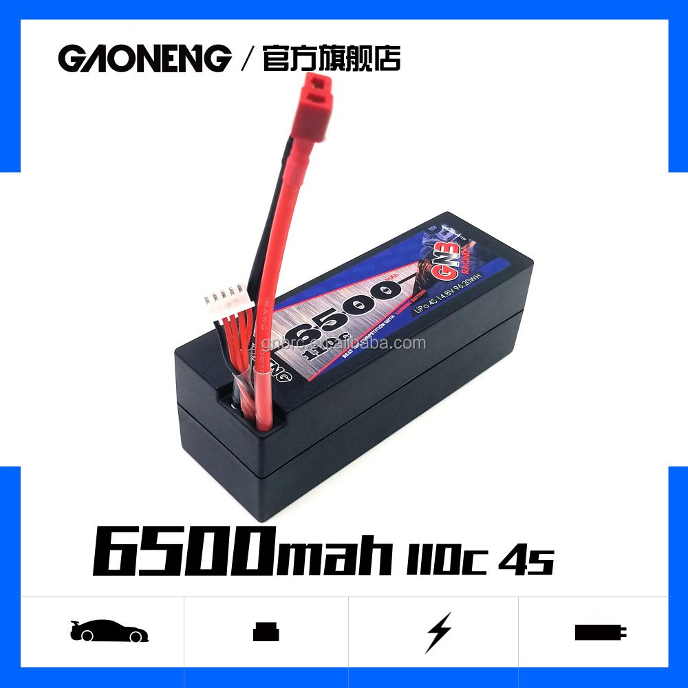 buggy LiPo battery 4S 6500mAh hardcase hard case 14.8V 110c truggy rechargeable rc truck tank