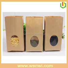 Customized food packaging kraft paper bags with window