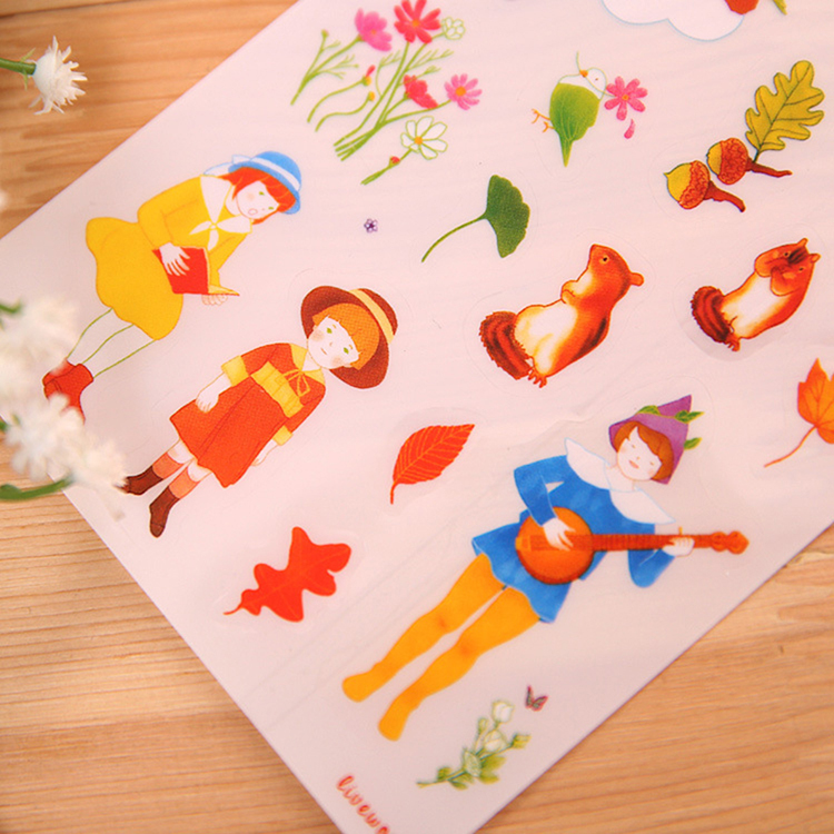 Hot Sell PVC DIY Diary Decoration Paper Sticker