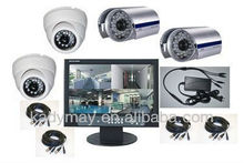 2014 Best seller !!! Economic kit 4ch security camera system with 15.6 inch Monitor DVR, competitive price!