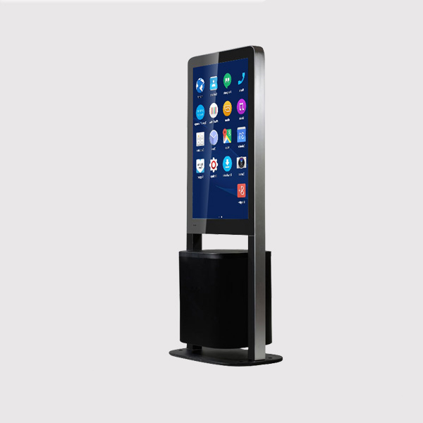 32 inch floor free standing advertising display garbage bin Android system <strong>1080P</strong> for indoor shopping mall