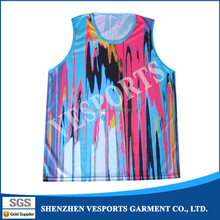 Full over sublimation printing custom design sublimated basketball uniform